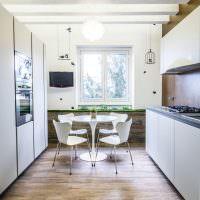 Дизайн кухни с параллельной планировкой