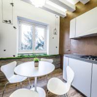 Обеденная зона в современной квартире