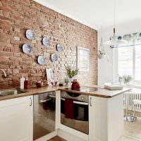 Интерьер кухни без подвесных шкафов