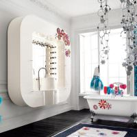 Дизайн ванной комнаты в стиле китч