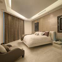 Дизайн спальни неправильной формы