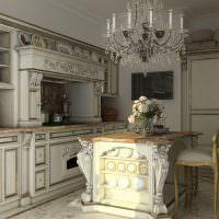 Шикарный интерьер кухни в историческом стиле
