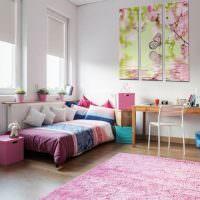 Розовый цвет в интерьере детской комнаты