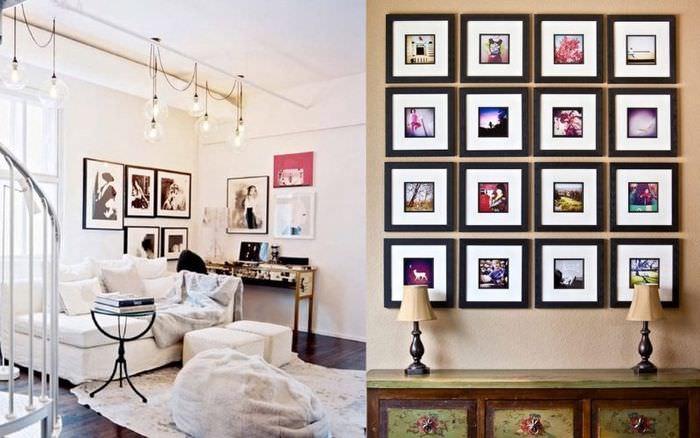 Украшение картинами стен жилого дома