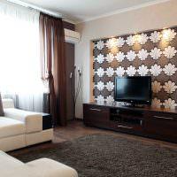 Использование обоев для зонирования гостиной