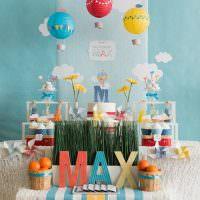 Идея украшения детской ко дню рождения мальчика