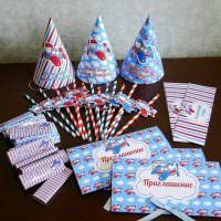 Приглашения из картона на детский день рождения