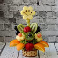 Сладкий букет из фруктовых долек