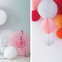 Красивые бумажные шары для праздничного декора