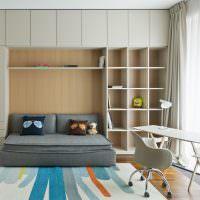 Модульная мебель в интерьере детской комнаты