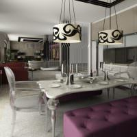 Пластиковые стулья в современной кухне