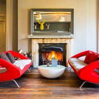 Красные диваны оригинальной формы