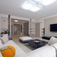 Дизайн гостиной в белом цвете