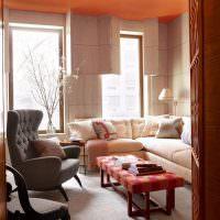 Место для отдыха с мягкой мебелью