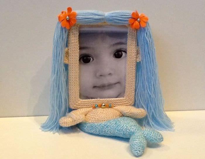 Рамка для детской фотографии в форме русалки