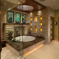 Большая ванна в восточном стиле