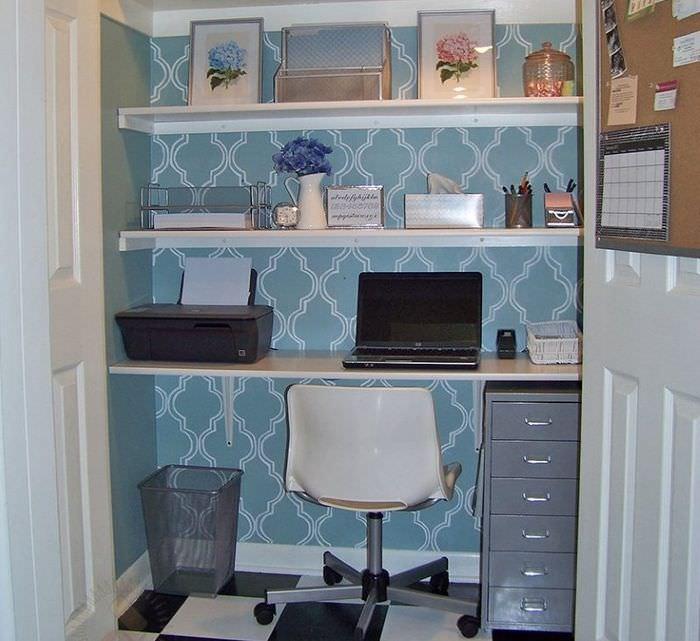 Организация рабочего кабинета в маленькой кладовке