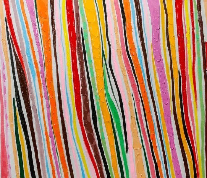 Картина из цветных полос для украшения интерьера
