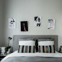 Украшение рисунками стены над кроватью