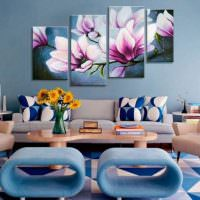 Модульная картина с яркими цветами