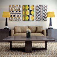 Настольные лампы с желтыми абажурами