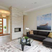 Черный диван угловой конфигурации