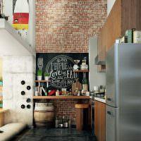 Дизайн кухни с холодильником из нержавеющей стали