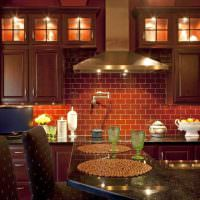 Керамическая плитка на кухонном фартуке
