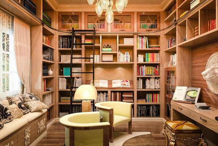 Высокие стеллажи для хранения книг в своем доме