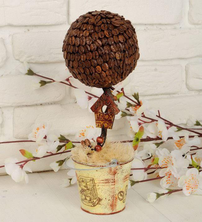 Кофейное дерево для украшения домашнего интерьера