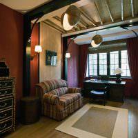 Интерьер домашнего кабинета в колониальном стиле