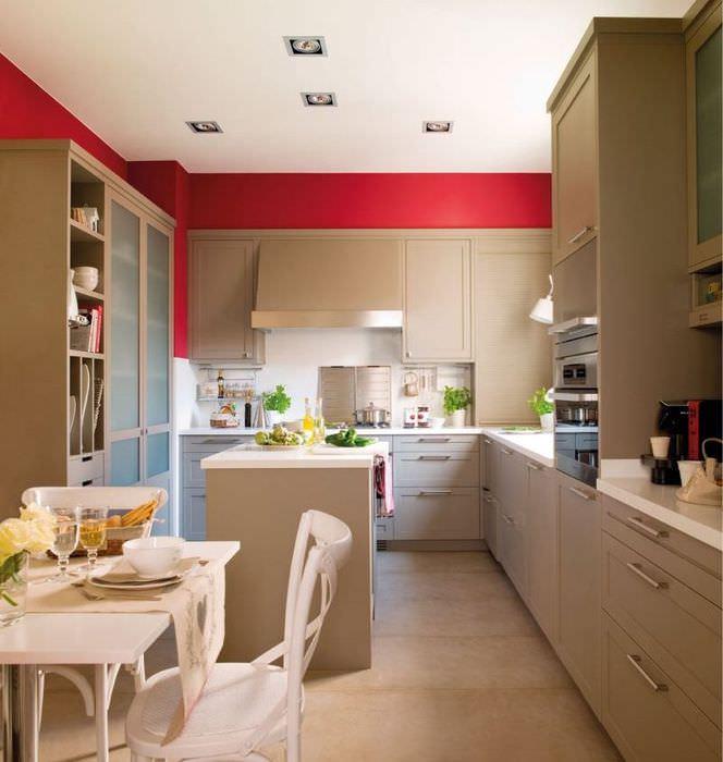 Дизайн кухни-гостиной 18 квадратов с островом