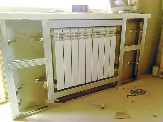 Монтаж профилей короба батареи отопления своими руками