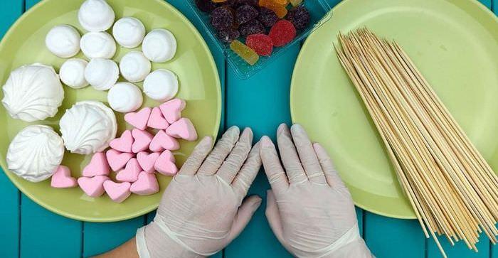 Продукты для изготовления сладкого букета своими руками