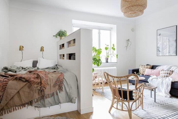 Отделение спального места с помощью гипсокартоной перегородки