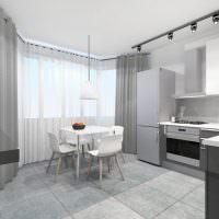 Дизайн кухни в двушке распашонке