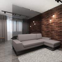 Серый диван угловой планировки