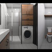 Дизайн раздельного санузла в двухкомнатной квартире