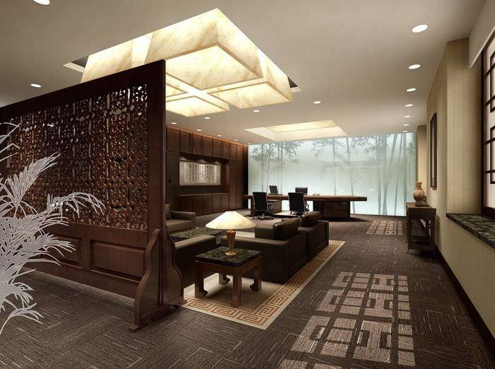 Дизайн большой гостиной в китайских традициях