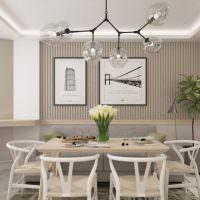 Дизайн обеденной зоны в квартире распашонке серии 44т
