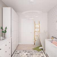 Детская кроватка в комнате для новорожденного