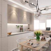 Дизайн кухни в современной двушке