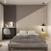 Интерьер современной спальни в двухкомнатной квартире