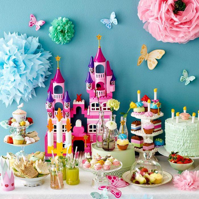 Сказочная сервировка сладкого стола для детей