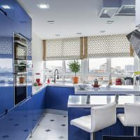 Кухонный гарнитур с глянцевыми фасадами