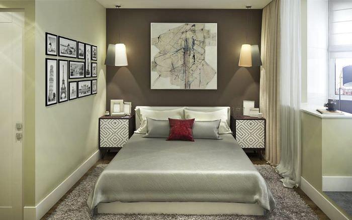 Дизайн спальни-кабинета для молодых супругов