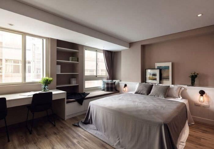 Дизайн спального помещения в двухкомнатной квартире