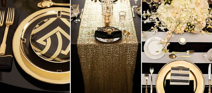 Примеры сервировки стола в стиле арт-деко