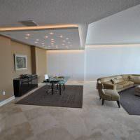 Дизайн серой гостиной в стиле минимализма