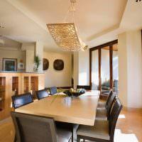 Светильник из фанеры над обеденным столом